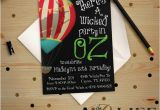 Wizard Of Oz Birthday Party Invitations Birthday Invitation Wicked Wizard Of Oz the Great and