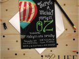 Wizard Of Oz Birthday Party Invitations Birthday Invitation Wicked Wizard Of Oz the Great and