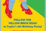 Wizard Of Oz Birthday Party Invitations Items Similar to Wizard Of Oz Dorothy Ruby Slippers