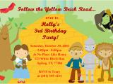 Wizard Of Oz Birthday Party Invitations Wizard Of Oz Birthday Party Invitations Ideas Bagvania