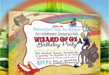 Wizard Of Oz Birthday Party Invitations Wizard Of Oz Invitation