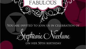 Womans 50th Birthday Invitations Free Printable 50th Birthday Invitations for Women