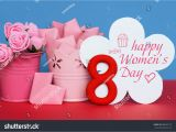 Women S Happy Birthday Card Happy Womens Day March 8 Greeting Stock Photo 588025175