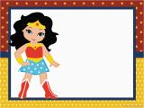 Wonder Woman Birthday Card Printable Wonder Woman Chibi Free Printable Invitations Oh My