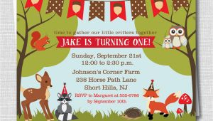 Woodland Animal Birthday Invitations Woodland Animals Birthday Invitation Woodland by