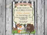 Woodland themed Birthday Invitations Woodland Animals Birthday Invitation Animal themed Birthday