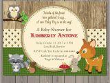 Woodland themed Birthday Invitations Woodland Baby Shower Invitations forest Animals Shower