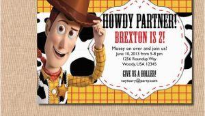 Woody Birthday Invitations Items Similar to toy Story Birthday Invitation Woody