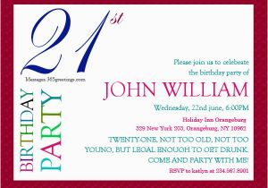 Wording for 21st Birthday Invitation 21st Birthday Invitations 365greetings Com
