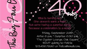Wording for 40th Birthday Party Invitations 40th Birthday Invitation Wording Oxsvitation Com