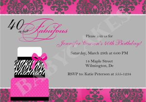 Wording for 40th Birthday Party Invitations 40th Birthday Invitation Wording Template Best Template