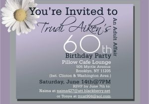 Wording For 60th Birthday Party Invitations Templates