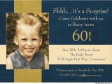 Wording for 60th Birthday Party Invitations Free 60 Surprise Birthday Invitation Template Wording