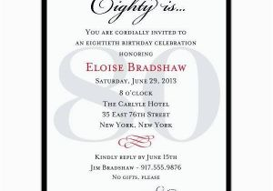 Wording For 80th Birthday Party Invitations Invitation A Cake