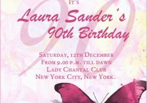 Wording For 90th Birthday Party Invitations Invitation 365greetings Com