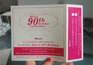 Wording For 90th Birthday Party Invitations Invitation Cimvitation