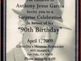 Wording for 90th Birthday Party Invitations 90th Birthday Party Invitation Cimvitation