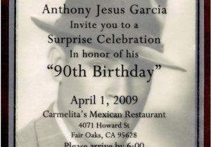 Wording For 90th Birthday Party Invitations Invitation Cimvitation