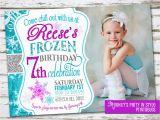 Wording for Frozen Birthday Invitations Frozen Birthday Invitation with Photo