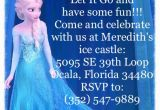 Wording for Frozen Birthday Invitations Frozen Birthday Invitation Wording Frozen Birthday