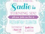 Wording for Frozen Birthday Invitations Frozen Birthday Party