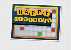 Words for Friends Birthday Card Items Similar to Words with Friends Scrabble Board Games