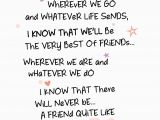 Words to Put In A Birthday Card Best Friends forever Inspired Words Greeting Card Blank