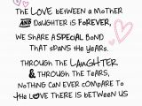 Words to Put In A Birthday Card Mother Daughter Love Inspired Words Greeting Card Blank