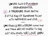 Words to Put In A Birthday Card Special Granddaughter Inspired Words Greeting Card Blank