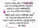 Words to Put In A Birthday Card Special Grandma Inspired Words Greeting Card Blank Inside
