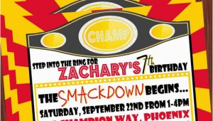 Wrestling Birthday Party Invitations 5 Best Images Of Free Printable Wwe Birthday Invitations