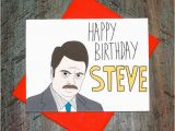 Wrong Cards Birthday Parks and Recreation Ron Swanson Wrong Name by Turtlessoup