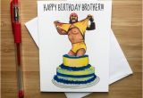 Wwe Birthday Cards 80s Pro Wrestling Birthday Card Wrestling Fans Birthday