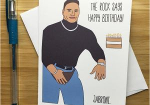 Wwe Birthday Cards Funny Rock Birthday Card the Rock Dwayne Johnson by