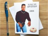 Wwe Birthday Cards Funny Rock Birthday Card the Rock Dwayne Johnson Wwe Rock