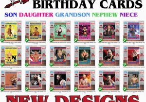 Wwe Birthday Cards Personalised Wwe Wrestling Choose A Superstar Birthday