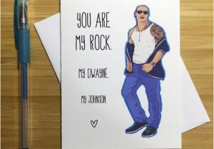 Wwe Birthday Cards Romantic Card the Rock Dwayne Johnson Cute by Yeaohgreetings
