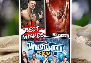 Wwe Birthday Cards Wwe Wrestlemania Personalised Birthday Card son