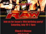 Wwe Birthday Invites Personalized Wwe Wrestling Invitations Custom Printable P