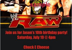 Wwe Birthday Invites Personalized Wwe Wrestling Invitations Custom Printable P