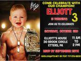 Wwe Birthday Invites Wwe Birthday Invitation by Printable Birthday Invitations
