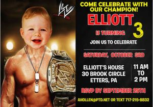 Wwe Birthday Invites Wwe Birthday Invitation by Printable Birthday Invitations