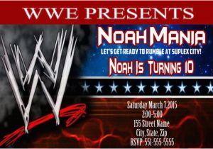 Wwe Birthday Invites Wwe Fan Invitation Wwe Invitation Wwe Birthday Invitation