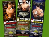 Wwe Birthday Invites Wwe Ticket Birthday Party Invitation Superstars Raw Ebay