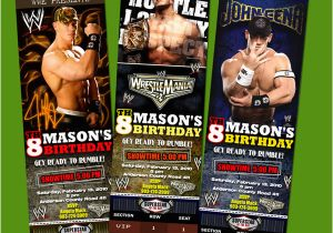 Wwe Birthday Invites Wwe Ticket Birthday Party Invitation Superstars Raw Ebay