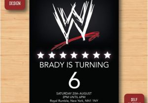 Wwe Birthday Invites Wwe Wrestling Birthday Invitation Self Editable Pdf 5 X 7