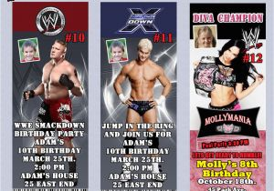 Wwe Birthday Invites Wwe Wrestling Birthday Invitation Thank You Cards or