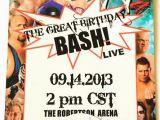 Wwe Birthday Party Invitations Free 40th Birthday Ideas Free Wwe Birthday Invitation Templates