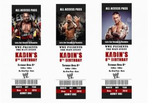 Wwe Birthday Party Invitations Free Printable Tickets By