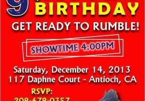 Wwe Birthday Party Invitations Free Best Ideas